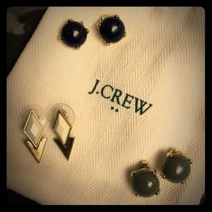 Set of 3 J. Crew earrings
